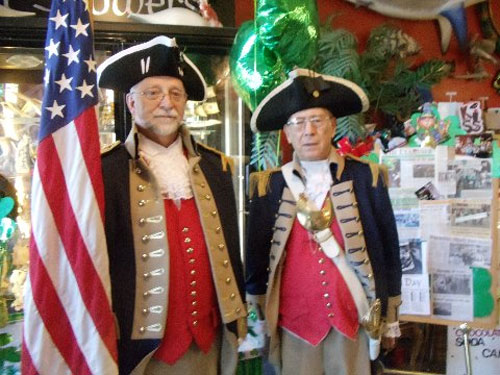 Pictured here is Harry S. Truman Chapter Member Robert L. Grover and Compatriot John Stewart, after marching at the Blue Springs, Missouri St. Patrick's Day Parade on Tuesday, March 17, 2015.