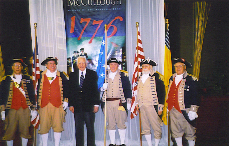 Speaker David McCullough along with members of the Harry S. Truman Chapter Color Guard team at the 63rd Annual Celebration of Achievement, William Jewell College at the Weston Crown Hotel in downtown Kansas City, MO on Thursday, March 8, 2007. David McCullough is a two time winner of the National book Award and the Pulitzer Prize.