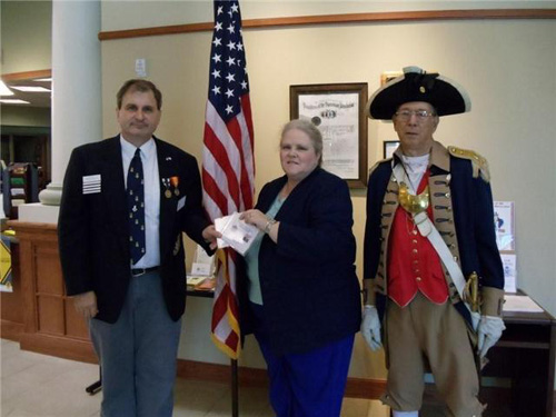 The Harry S. Truman Color Guard participated in a National Society Sons of the American Revolution (NSSAR) DVD Dedication Ceremony on Saturday, April 10, 2010.  The Dedication Ceremony was held at the Midwest Genealogy Center, in Independence, Missouri. The DVD's explain the purpose and goals of the NSSAR, as well as a recruitment tool for all NSSAR Chapters in gaining new members to the NSSAR.