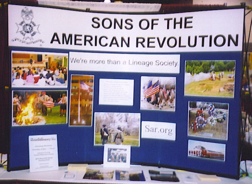 Members of the Harry S. Truman Chapter sposored a Sons of the American Revolution exhibit, in which they represented the Sons of the American Revolution and the Harry S. Truman Chapter.