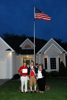 Pictured here is a Flag Certificate Award being presented to Roy and Rosemary Carsten of Excelsior Springs, MO. Major General Robert L. Grover, MOSSAR Color Guard Commander, is shown here conducting a Flag Certificate Award presentation.  The Flag Certificate Award was recommended by Historian Brian Smarker (not shown in photo).