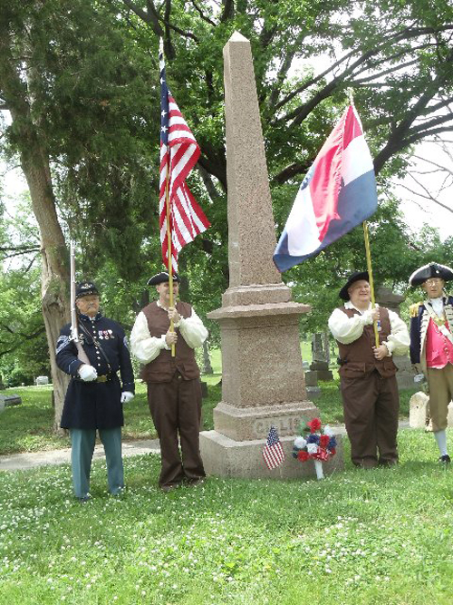 The Harry S. Truman  Color Guard Team participated in a War of 1812 Memorial Dedication on Memorial Day 2014.  Four soldiers were remembered today, who fought in the War of 1812 and are also the founders of the Town of Kanza, which we know today as Kansas City. The team participated in the Memorial Day event located at Union Cemetery in Kansas City, MO.