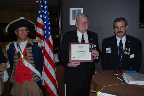 The chapter was privileged to have as guest speaker, Compatriot Dennis Owens.  Compatriot Owens, spoke on 'The Most Important Figure in the American Revolution that we have never heard of'.    Compatriot Owens received the NSSAR War Service Medal for his public service to his Nation while serving in the Vietnam War. Compatriot Owens is also very active in his community serving in many organizations including the NSSAR and NSCAR.  We thank Compatriot Owens for sharing his knowledge on the American Revolution.