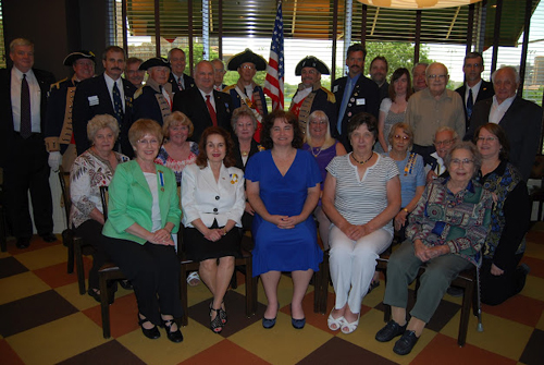 Pictured here is a group photo of Harry S. Truman Chapter members and guests at the 16th Annual Harry S. Truman Chapter Fourth of July Luncheon on June 23, 2012.