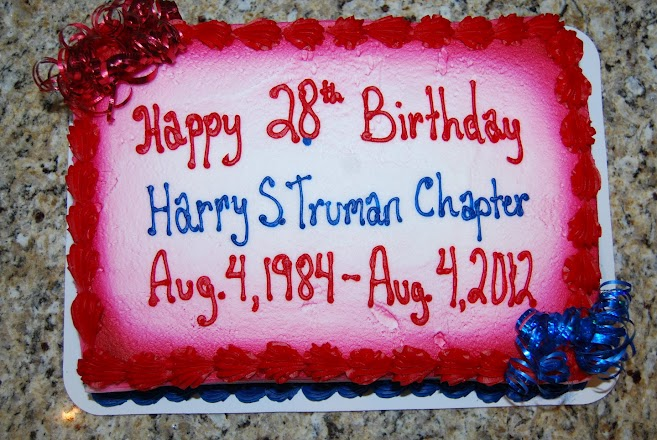 The 28th Birthday Celebration on August 11th, 2012.  The Charter date for the Chapter originatated on August 4th, 1984.  Compatriot George DeLapp and Robert L. Grover, are both founding charter members.