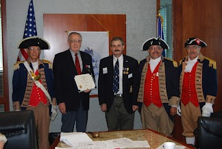 President Dirk Stapleton presented Compatriot Romie Carr with a Supplemental Certificate on Saturday, August 11, 2012, on his patriot ancestor, Patriot Robert Seat. Congratulations to Compatriot Carr!