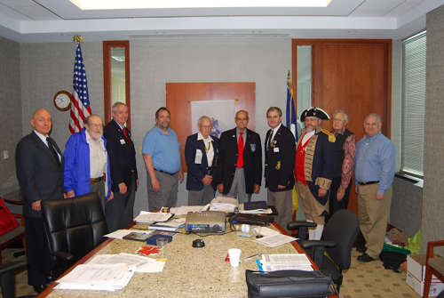 A U.S. Veteran Recognition for Harry S. Truman Chapter members was conducted   at the 329th Harry S. Truman Chapter meeting on Saturday, November 10, 2012. The chapter recognized its veterans for their honorable service to this great Nation.  President Dirk Stapleton is shown here recognizing all Harry S. Truman Chapter members, who have served their nation in the U.S. military.