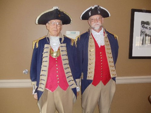 Pictured here is the Harry S. Truman Chapter Color Guard and members who attended DAR Independence Pioneers Veterans Day Program on Tuesday, November 11, 2014, in Independence, Missouri.   Major General Robert L. Grover, Harry S. Truman Color Guard Commander, is also shown here along with Compatriot John Stewart.   This was a Veterans Day program honoring the veterans and showing the flag what they are doing to honoring the veterans.  There were a lot of DAR chapters across the nation in this Vietnam program showing the flag that received.
