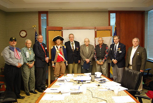 President Dirk Stapleton is also shown here recognizing all Harry S. Truman Chapter members, who have served their nation in the U.S. military.