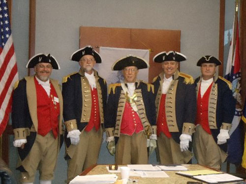 Pictured here is the Harry S. Truman Color Guard at the 352nd Harry S. Truman Chapter Meeting, on Saturday, November 8, 2014 in Independence, Missouri.