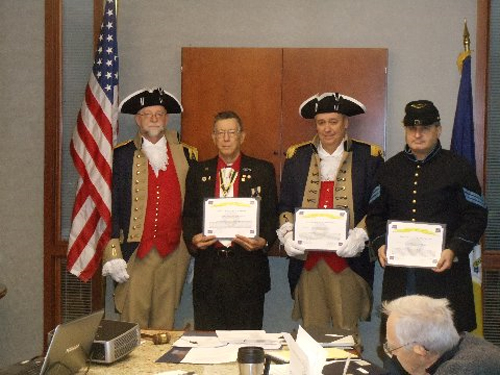 The Vietnam Veterans of America, Heart of America Chapter, Chapter 317 has awarded MOSSAR & HST Chapter Color Guard Commander Robert L. Grover; Harry S. Truman Chapter Color Guard members Compatriot Roy Hutchinson and Compatriot Dirk A. Stapleton, with a Certificate of Appreciation for participating in the Veterans Day Ceremony at the Vietnam Memorial in Kansas City, MO on Veterans Day November 11, 2013.