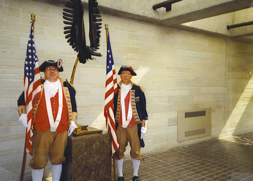 Robert L. Grover and James L. Scott at the Wreath Laying Presentation Ceremony; Harry S. Truman Library in Independence, MO on May 8, 2002