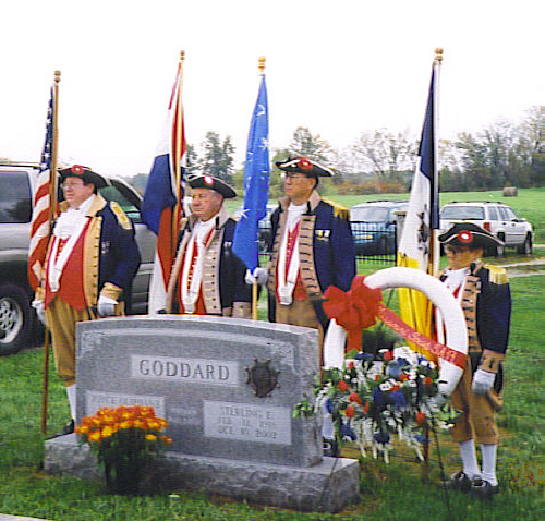 Presentation Ceremony of SAR Gravestone Marker for Sterling E. Goddard on October 11, 2003 at Urich Cemetery, Urich, MO