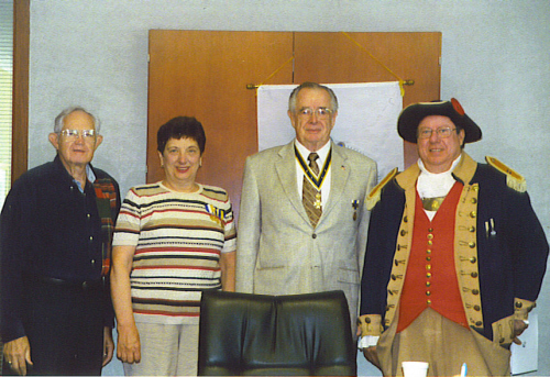 Members of the Harry S. Truman Chapter and guest Carolyn Grover during a MOSSAR Awards presentation on May 13, 2006