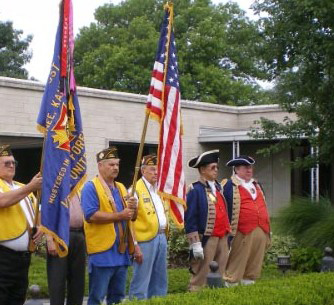 The Harry S. Truman Color Guard attended the 2008 Final Salute to Harry S. Truman at the Harry S. Truman Library on Wednesday, August 6, 2008 in Independence, MO. An American Legion Post from Kansas also was present for the ceremony.