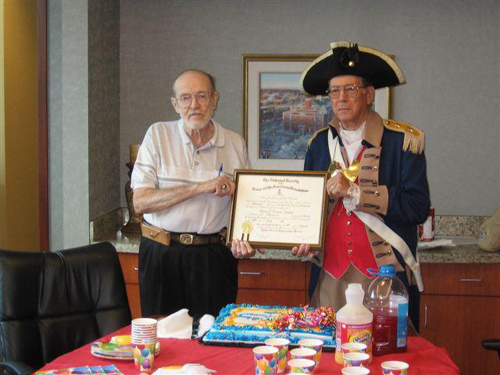 The members of the Harry S. Truman Chapter and Color Gaurd are shown here at the 25th Birthday Celebration on August 8th, 2009.  The Charter date for the Chapter originatated on August 4th, 1984.  Compatriot George DeLapp and Robert L. Grover, are both founding charter members.