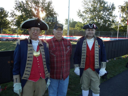 Pictured here is The Harry S. Truman Chapter Color Guard Team participating at the Awakening Ceremony on Sunday, October 3, 2010.  Major General Robert L. Grover, MOSSAR Color Guard Commander, Harry S. Truman Chapter President Dirk A. Stapleton, Compatriot Dale Crandell are shown here.  MOSSAR Color Guard member Captain James Scott also participated in this event, but is not shown here.