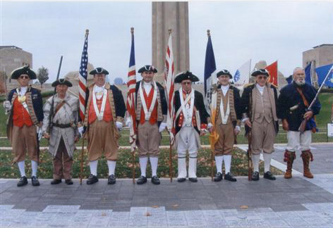 MOSSAR Color Guard Team on Veterans Day 2007. The team participated in the Veterans Day event located at the Liberty Memorial tower in Kansas City, MO, which honors World War I veterans