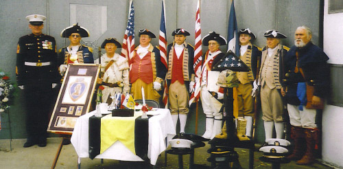 Pictured here is the MOSSAR Color Guard Team on Veterans Day 2007. The MOSSAR Color Guard team participated in the Veterans Day event located at the Vietnam Memorial in Kansas City, MO, which honors veterans of the Vietnam conflict.