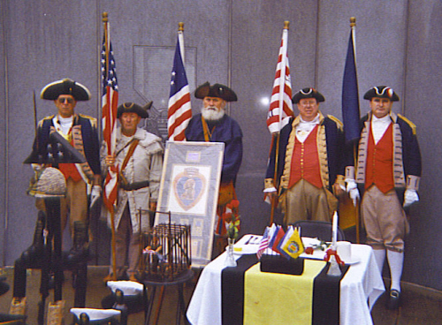Pictured here is the MOSSAR Color Guard Team on Veterans Day 2008. The MOSSAR Color Guard team participated in the Veterans Day event located at the Vietnam Memorial in Kansas City, MO, which honors veterans of the Vietnam conflict