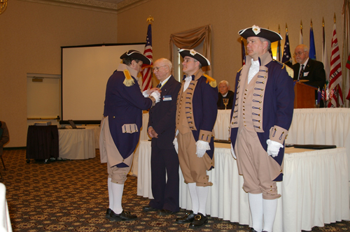 Pictured here is the MOSSAR and KSSSAR Color Guard Team taken at the 22nd Annual George Washington Birthday Celebration in Overland Park, KS on February 23, 2008. Four honored individuals were presented with SAR Awards during the celebration program.