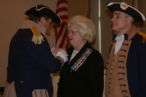 Pictured here is the MOSSAR and KSSSAR Color Guard Team presenting the Martha Washington Award to Mrs. Anne Sizemore.