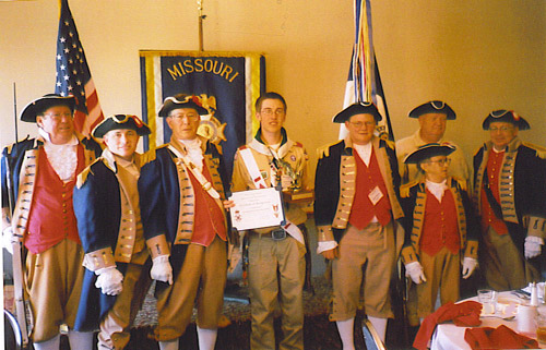 MOSSAR Color Guard team at MOSSAR Annual Convention at Branson, MO on April 30th, 2005