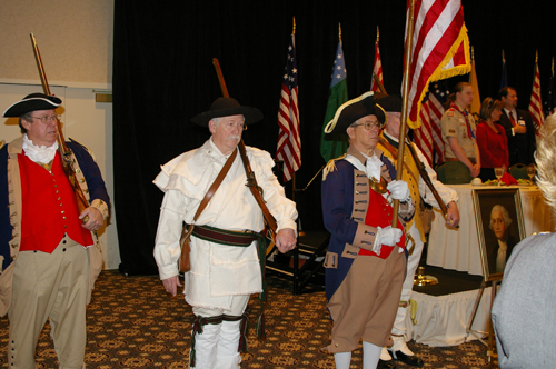 Pictured here is the MOSSAR and KSSSAR Color Guard Team during the Presentation of the Colors taken at the 23rd Annual George Washington Birthday Celebration in Overland Park, KS on February 21, 2009.