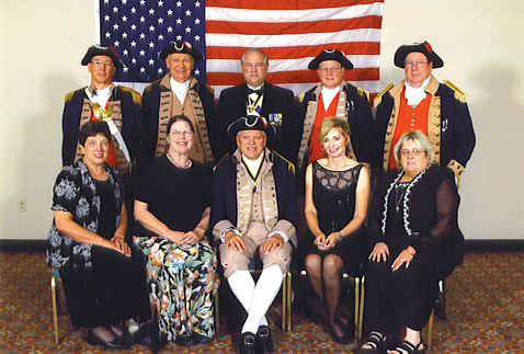 MOSSAR Color Guard Team at 2005 National NSSAR Convention at Louisville, KY on July 3, 2005