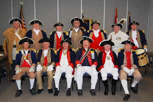 Pictured here is the MOSSAR Color Guard at the MOSSAR Board of Directors Meeting in Columbia, MO on Saturday, January 26, 2013.