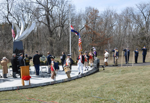 Shown here is the MOSSAR Color Guard Team, who participated in the Veterans Way Memorial Dedication Ceremony, located at Pink Hill Park in Blue Springs, MO on Tuesday, April 2, 2013.