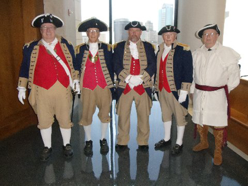 Pictured here is the MOSSAR Color Guard team during the Naturalization Ceremony held at the Charles Evans Whittaker Courthouse  in Kansas City, MO on Tuesday, April 11, 2014.