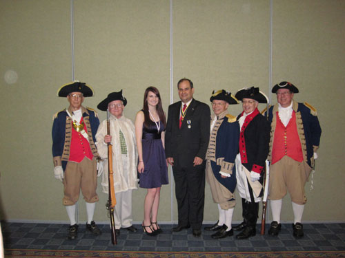 Pictured here is MOSSAR President Clifford Olsen, Ciara Gunter, Honorary M.S.S.C.A.R. State President, and the MOSSAR Color Guard, at the MSSDAR State Conference at the Capitol Plaza Hotel in Jefferson City, Missouri on April 30, 2010.