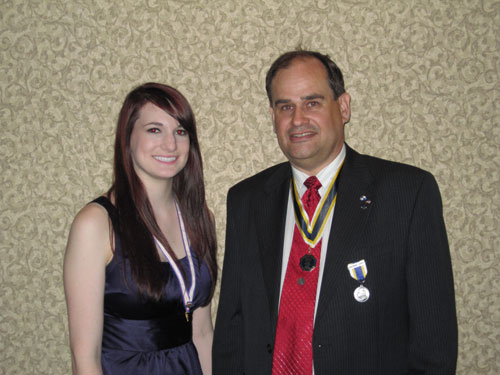 Pictured here is MOSSAR President Clifford Olsen and Ciara Gunter, Honorary M.S.S.C.A.R. State President, at the MSSDAR State Conference in Jefferson City, Missouri on April 30, 2010.