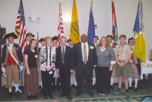 Pictured here in the right photo is the The MOSSAR Color Guard Team and local community leaders being honored for their recent contributions at the 118th Annual Missouri State Convention in Independence, Missouri on April 25-26, 2008.
