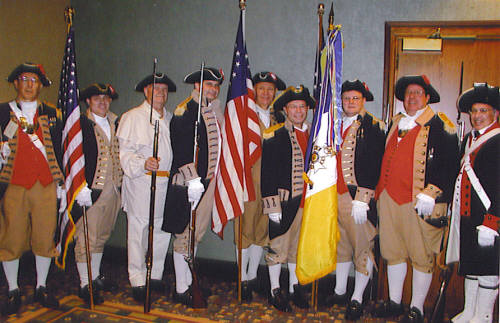 Pictured here in the photo is the MOSSAR Color Guard members participating in the 116th Annual Missouri State Convention on April 28-29, 2006.