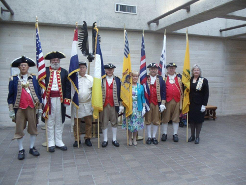 The MOSSAR Color Guard conducted the 40th Annual Observance of President Harry S. Truman's birthday at the Harry S. Truman Library in Independence, MO on Wednesday, May 8th, 2013 at 9:30 AM.  In observance of this occasion, the Truman Library and Museum, and several area Truman-related organizations celebrated the 129th birthday (May 8, 1884) of the area's most famous citizen, Harry S. Truman.
