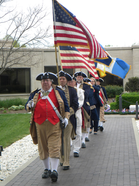The MOSSAR Color Guard conducted the 41st Annual Observance of President Harry S. Truman's birthday at the Harry S. Truman Library in Independence, MO on Thursday, May 8th, 2014 at 9:30 AM.  In observance of this occasion, the Truman Library and Museum, and several area Truman-related organizations celebrated the 130th birthday (May 8, 1884) of the area's most famous citizen, Harry S. Truman.