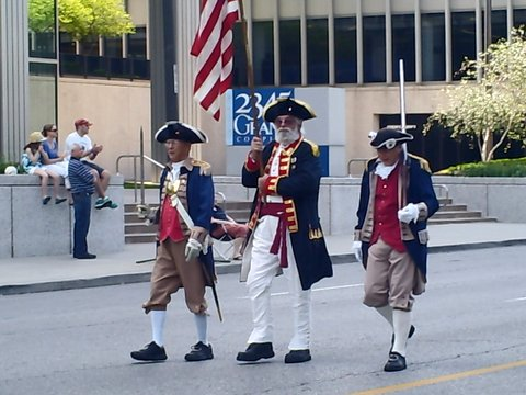 The MOSSAR Color Guard participated in the Armed Forces Day Parade located at Pershing Road and 26th Street on Saturday, May 18th, 2013 at 11:00 AM in Kansas City, Missouri. On this special day, our glorious nation celebrates Armed Forces Day, a day set aside to honor the five U.S. military branches. It was first observed May 20, 1950. In 1962 Navy veteran and President John F. Kennedy led the way in establishing Armed Forces Day as an official holiday.
