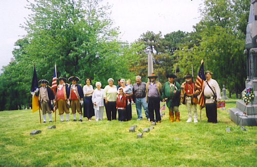 Both the MOSSAR & KSSSAR Color Guard Teams participated in the American Revolution War Patriot Dedication for the Patriot Elizabeth Duncan Porter on Saturday, May 24, 2008 at Union Cemetery in Kansas City, MO. The Major Isaac Sadler-La Belle Vue Chapter, National Society Daughters of the American Revolution is proud to honor the memory of Mrs. Porter by installing and dedicating a marker. Porter and her family were among 129 persons taken captive on June 26, 1780 at Martin's Station on Stoner Creek.
