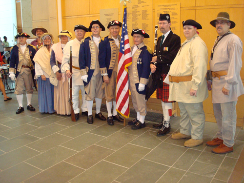 Brigadier General Stephen Baldwin, MOSSAR Eastern Color Guard Commander, Missouri Continental Militia is shown here with the MOSSAR Color Guard at the Battle of Fort San Carlos Dedication on Sunday, May 25th, 2008.