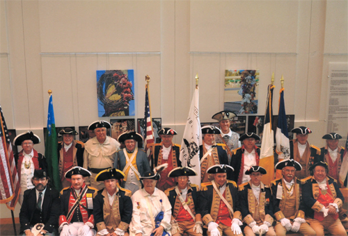 Major General Robert L. Grover, MOSSAR Color Guard Commander is shown here with the MOSSAR Color Guard at the Battle of Fort San Carlos Commemoration on Sunday, May 26th, 2013.
