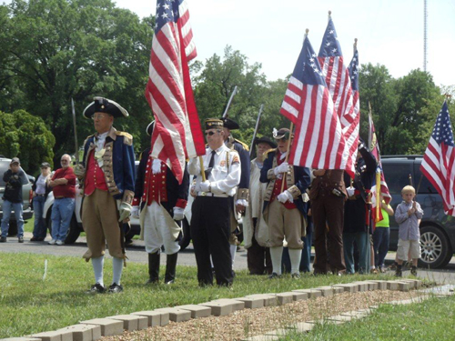 The MOSSAR Color Guard, along with other local heredity groups including the Captain Daniel Morgan Boone Chapter, Society of the War of 1812; Westport Camp #64, Sons of Union Veterans of the Civil War; Corps of Discovery Children of the American Revolution, and VFW Post 1738 from Independence, MO, conducted a recognition ceremony for a Civil War Medal of Honor recipient, Sergeant Thomas Toohey, buried at Mount Washington Cemetery in Independence, Missouri.