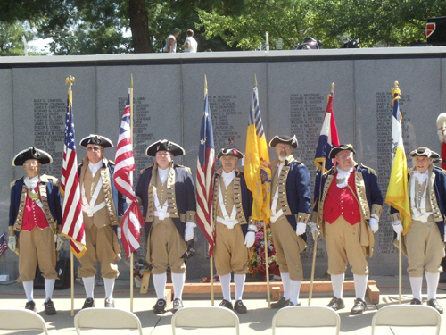 Shown here are both the MOSSAR & KSSSAR Color Guard Teams, who participated on Memorial Day 2012.  The Color Guard team participated in the Memorial Day event located at the Vietnam Veterans Memorial in Kansas City, MO, which honors Vietnam veterans.