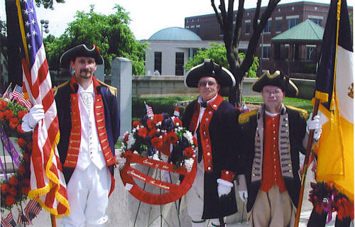 Pictured here is the MOSSAR Color Guard Team on Memorial Day 2006. The team participated in the Memorial Day event located at the Court House in Columbia, MO.