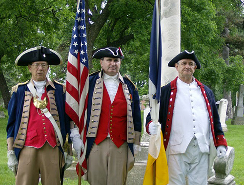 The MOSSAR Color Guard team participated in a Memorial Day event on May 30, 2011, located at Union Cemetery in Kansas City, MO.  The MOSSAR Color Guard Teams pays tribute to all veterans buried at Union Cemetery from the American Revolutionary War through the Vietnam conflict.