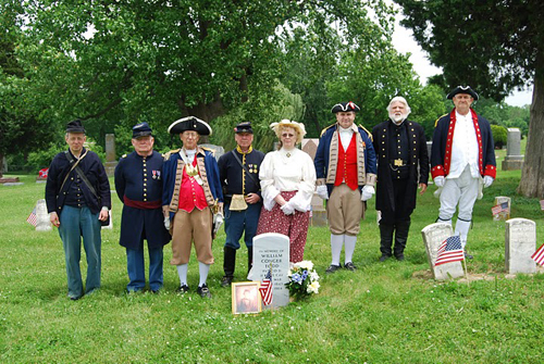 Shown here is both the MOSSAR Color Guard Team and Sons of the Union Army of the Civil War, who participated in a Grave Marker Dedication on May 30, 2011, for Private William Conger Todd.  The Color Guard team participated in the Memorial Day event located at Woodlawn Cemetery in Independence, MO.  This picture is a solemn reminder of the veterans from all the nation's wars who are buried in Woodlawn Cemetery.
