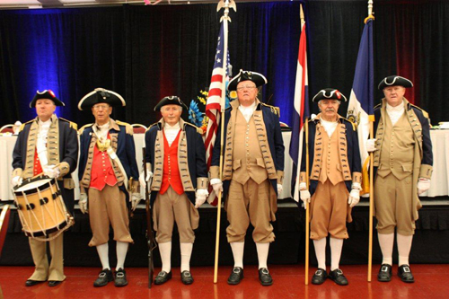 The MOSSAR and KSSSAR Color Guard Teams participated at the Opening Ceremony at the Annual Conference of the Southwest Region National Association of Housing & Redevelpment Officials, on Wednesday, June 20, 2012, which was located at the Kansas City, MO Marrott Hotel.  This is the first event in which Compatriot Bob Corum played the drum.