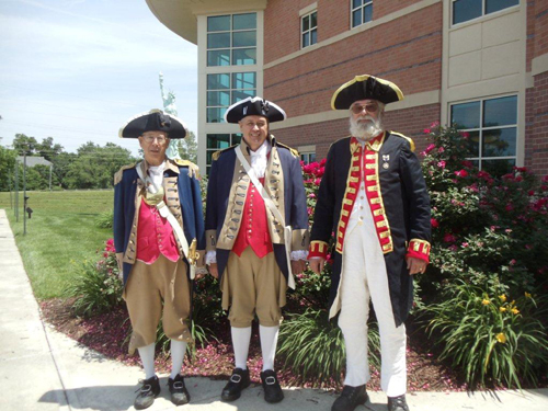 Pictured here is the MOSSAR Guard at the 5th Anniversary Celebration of the Midwest Genealogy Center, Mid-Continent Library in Independence, Missouri on Saturday, June 8, 2013.