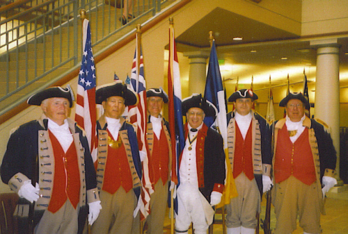 Pictured here is the MOSSAR Guard at the Public Dedication and Grand Opening of the Midwest Genealogy Center, Mid-Continent Library in Independence, Missouri on Saturday, June 21, 2008.
